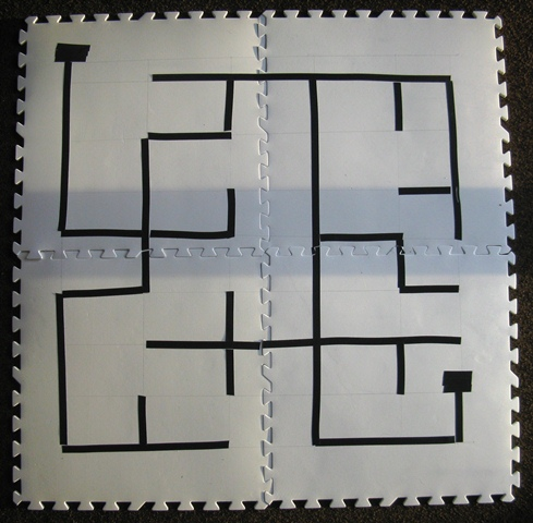 Tape maze for Lego mindstorms NXT robots.
